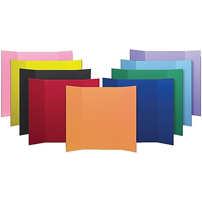 Flipside® Science Fair Materials, Presentation Project Boards, Assorted, 9/Carton