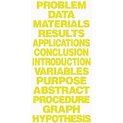 Flipside Science Fair Project Boards & Titles, Title, Yellow