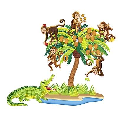 Five Monkeys Sitting In A Tree Pre-Cut Flannels