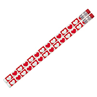 Musgrave Pencil Company Hearts O Glitter Pencil, Dozen, 2/Bd