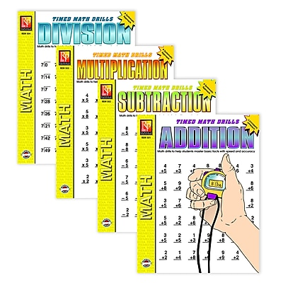 Timed Math Drills: Set of 4