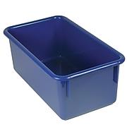 """Romanoff Stowaway 5.5""""H x 13.5""""W Plastic Bin - No Lid, Blue (ROM12104)"""