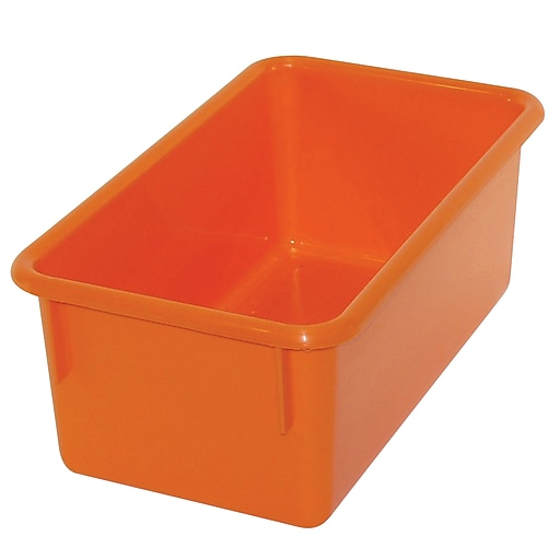 Romanoff Products Stowaway® Small Tub, Orange, 5/Pack