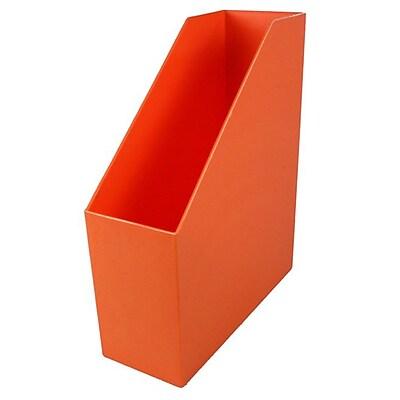 Romanoff Plastic Magazine File, Orange, 3 Pack (ROM77709)