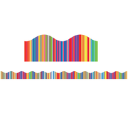 Scholastic Fiesta Stripes Scalloped Trimmer (36 x 2.25)
