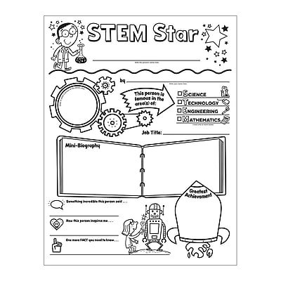 Scholastic, Personal Posters Stem Star Initiative, 30/st, 9