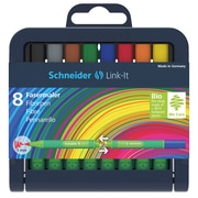 Schneider Link-It, Broad 1.0mm Pens, Assorted Colors, 8/Pk (STW192098)