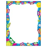 "Trend Enterprises Owl-Stars! Terrific Papers, 8.5"" x 11"", Unruled, Multicolor, 50 Sheets/Pad (T-11422)"