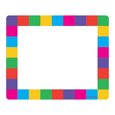 Trend Enterprises® pre-kindergarten - 3rd Grades Name Tag, Rainbow Plaid