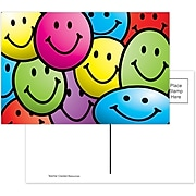 Teacher Created Resources Smiley Faces Smooth Personal Postcards, Multicolor, 30/Pack (TCR1965)