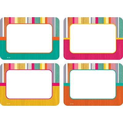 Teacher Created Resources Tropical Punch Name Tags/Labels - Multi-Pk, 36 per pack, bundle of 3 packs, 3 1/2