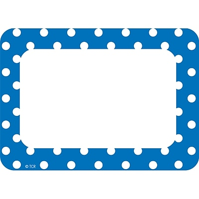 Teacher Created Resources Blue Polka Name Tags/Labels Multi-Pack, Pack of 36 (TCR5585)