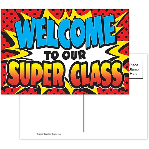 Superhero Welcome Postcards, 30/pkg (TCR5652)