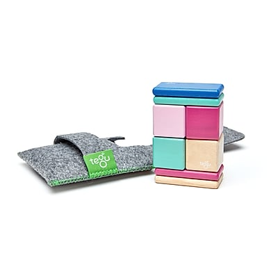 Tegu Wooden Blossom Pocket Pouch, Assorted, 8 Pieces (TEGPOPBSM607T)