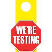 """Top Notch Teacher Products 6.5"""" x 11"""" We're Testing, Die-Cut Door Hanger (TOP5364)"""