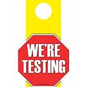 """Top Notch Teacher Products 6.5"""" x 11"""" We're Testing Die-Cut Door Hanger, Each (TOP5364)"""