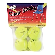 Pencil Grip Chair Socks, Yellow, 4/Pack (TPG230)