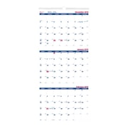 "Brownline 2019 3-Month Wall Calendar, 12-1/4"" x 27"", English"