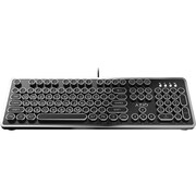 Azio MK Retro Mechanical Keyboard, Black/Silver (MK-RETRO-01)