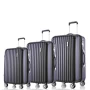 Moustache® 3-Piece Lightweight Hardshell Spinner Luggage Sets with TSA Lock