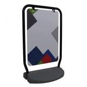 Can-Bramar – Présentoir sur piédestal EconoLine, 14 x 14 x 49,5 haut. (po), hauteur du verre 13,5 po, noir