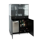 "Can-Bramar Commercial Quality Mobile Bar, 44""L x 22'D x 65-1/4'H, Black"
