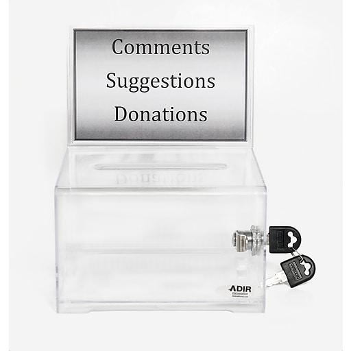 Adir® Acrylic Donation & Ballot Box 637