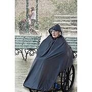 AdirMed Wheelchair Waterproof Black Poncho With Hood