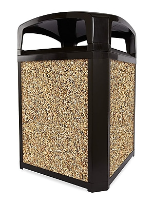 Rubbermaid® Landmark Series Dome-Top Trash Containers, Rock Panels For 35 Gallon Container, 4/Case (FG400300ROCK)