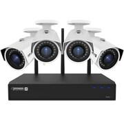 Defender – Système sécurité 1 To 4 canaux, sans fil 4MP 2K avec visionnement à distance, 4 caméras Wi-Fi grand angle (W2K1T4B4)