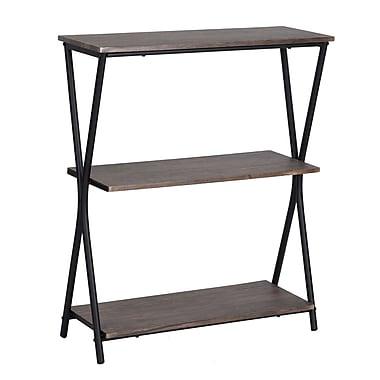 Chopstix 3 Tier Bookshelf Rustic Industrial Bookcase 3339 DM6411 00