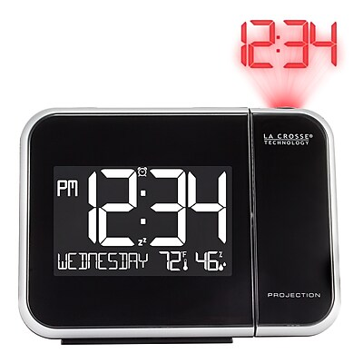 La Crosse Technology Projection Alarm Clock with Indoor Temperature and Humidity (616-1412)