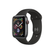 Apple Watch Series 4, 44mm, GPS + Cellular, Space Grey Aluminium Case with Black Sport Band
