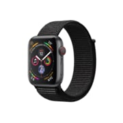 Apple Watch Series 4, GPS + Cellular, Space Grey Aluminium Case with Black Sport Loop