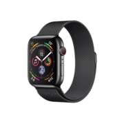 Apple Watch Series 4, GPS + Cellular, Space Black Stainless Steel Case with Space Black Milanese Loop
