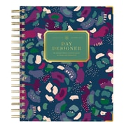 2019 Day Designer Planner Abstract Floral Glossy Lam. LGB 7.3x9.5 RY Daily/Mthly Wirebound Flagship (110263)