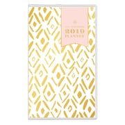 """2019 Day Designer Planner Gold Diamonds Clear PVC 3.625""""H x 6.125""""W RY Monthly Stapled (109244)"""