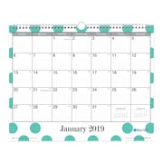 """2019 Blue Sky Noteworthy BS Purple Ombre PP 5""""H x 8""""W RY Monthly Wirebound (110259)"""