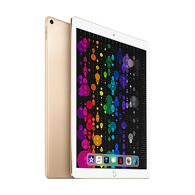 Apple – Tablette Retina iPad Pro MPA62CL/A 12,9 po, puce A10X Fusion, 256 Go, Wi-Fi + Cellular, or
