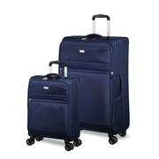 Jump – Ensemble de 2 valises souples de la collection Toledo, 4 roues, grande et cabine, bleu