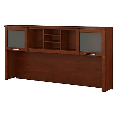 Bush Furniture Somerset 72W Hutch for L Shaped Desk, Hansen Cherry (WC81711)