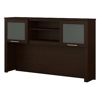 Bush Furniture Somerset 60W Hutch for L Shaped Desk, Mocha Cherry (WC81831)