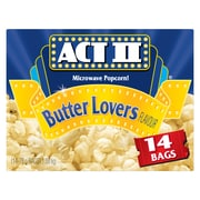 ACT II Microwave Popcorn, Butter Lovers Flavour, 14 Bags/Box