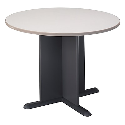 Bush Business Furniture 42 Inch Round Conference Table, Slate/Graphite Gray, Installed (TB84242AFA)