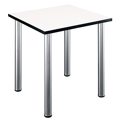 Bush Business Furniture Aspen 29W Square Table in White Spectrum, White Spectrum (TS85200)