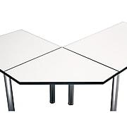 Bush Business Furniture Aspen Table 29W Corner Connector in White Spectrum, White Spectrum (TS85204)