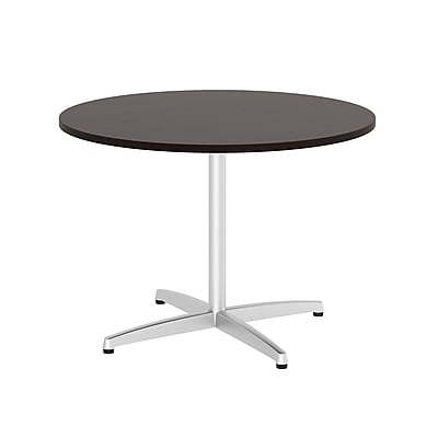 Bush Business Furniture 82W x 35D Racetrack Oval Conference Table, Pewter/White Spectrum, Installed (TR14584AFA)