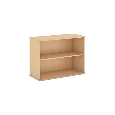 Bush Business Furniture 30H 2 Shelf Bookcase, Natural Maple (BK3036ACFA)