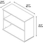 Bush Business Furniture 30H 2 Shelf Bookcase, Natural Maple (BK3036AC)