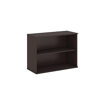 Bush Business Furniture 30H 2 Shelf Bookcase, Mocha Cherry (BK3036MRFA)